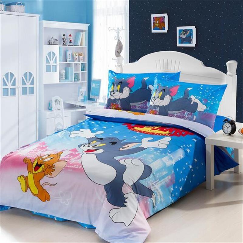 Großhandel Tom Und Jerry Bettwäsche Set 100 Coon Bettbezug