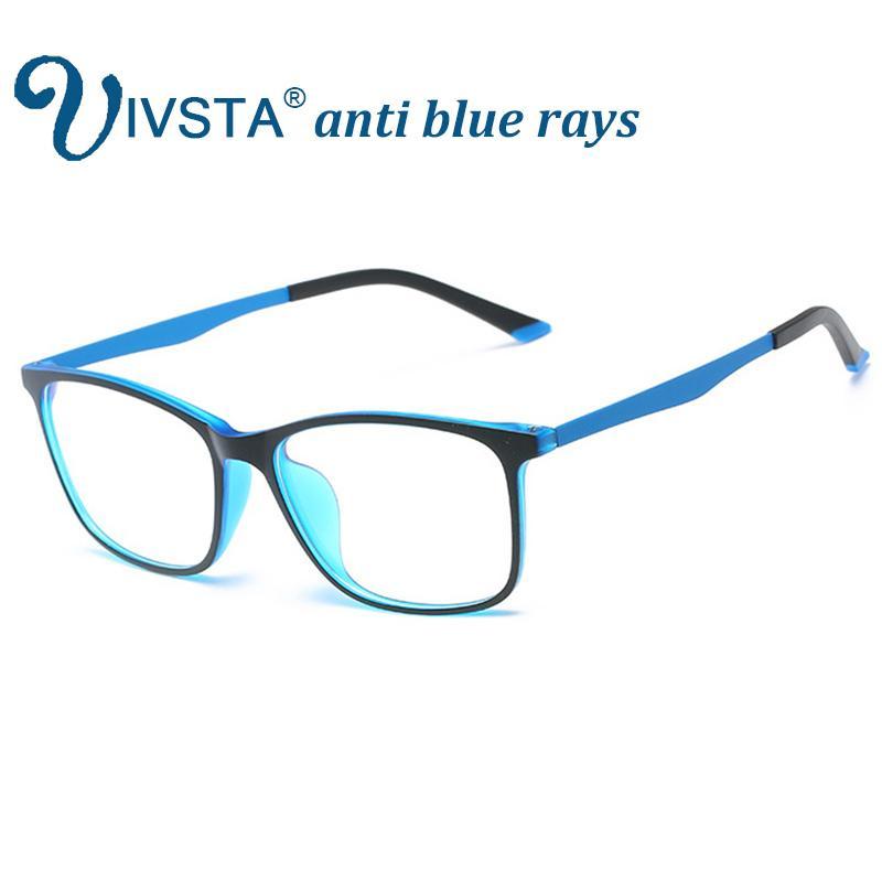 1ba87cb053b 2019 IVSTA Anti Blue Rays Gaming Glasses Men For Computer Phone Flexible  TR90 Orange Blue Super Light Thin Square Custom Grade Degree From  Onlycloth