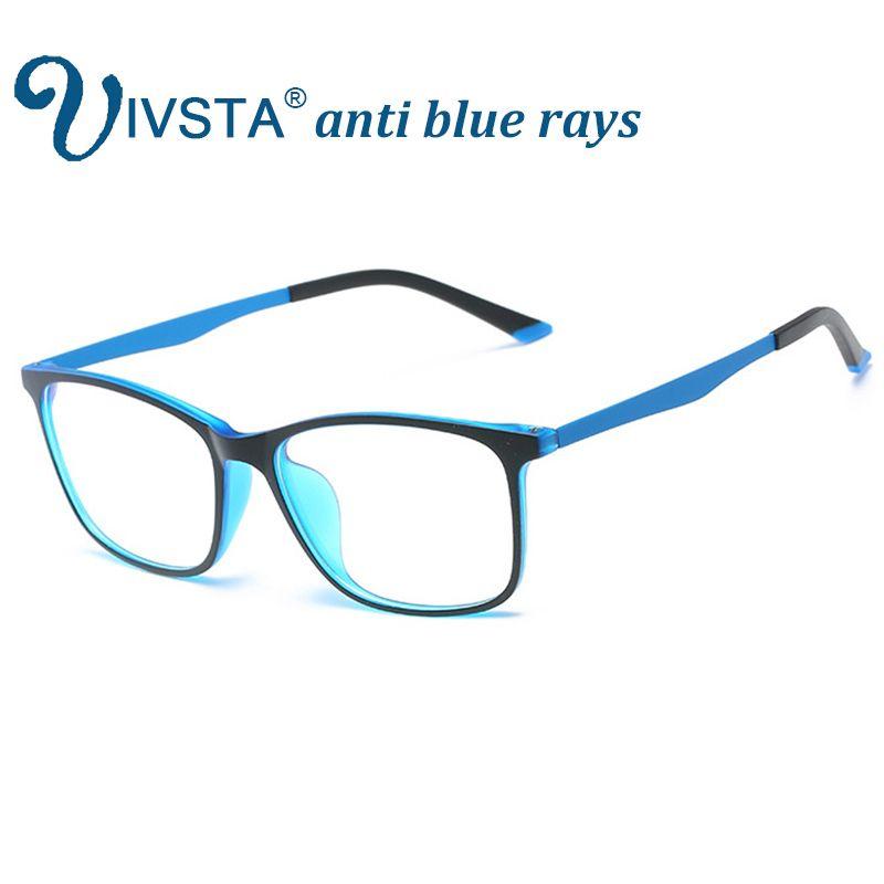 a7d09426b3b90 Compre IVSTA Anti Raios Azuis Gaming Óculos Homens Para Computador Telefone  Flexível TR90 Laranja Azul Super Fino Quadrado Personalizado Grau Grau De  ...
