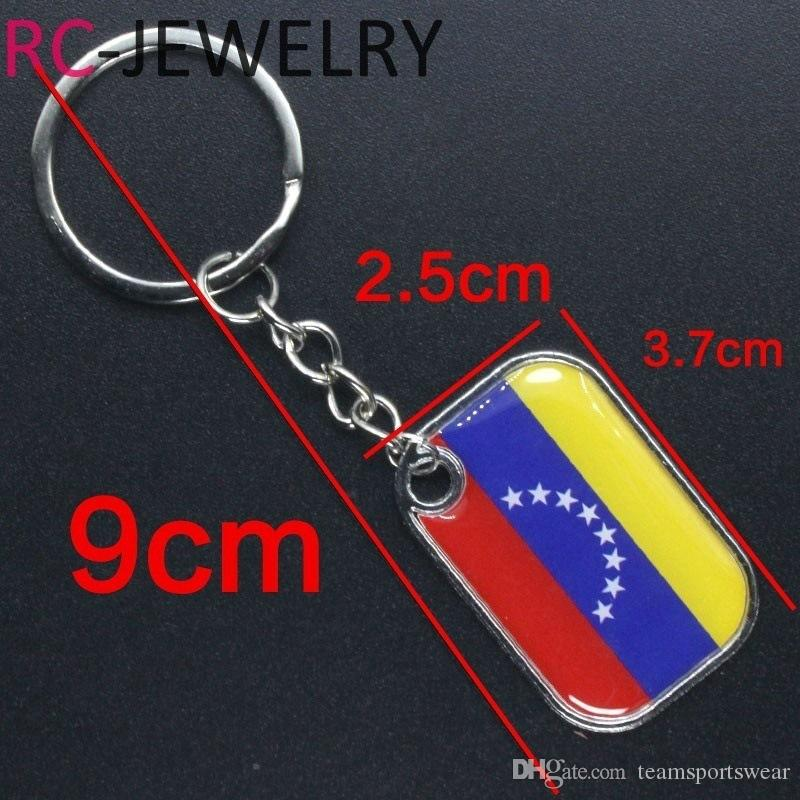 World Cup Keychain Football National Team Bunting Flag Keychains Top 32 Counties Soccer Key Chain Ring Souvenir Fans Gift for iPhone 9 8 7 X