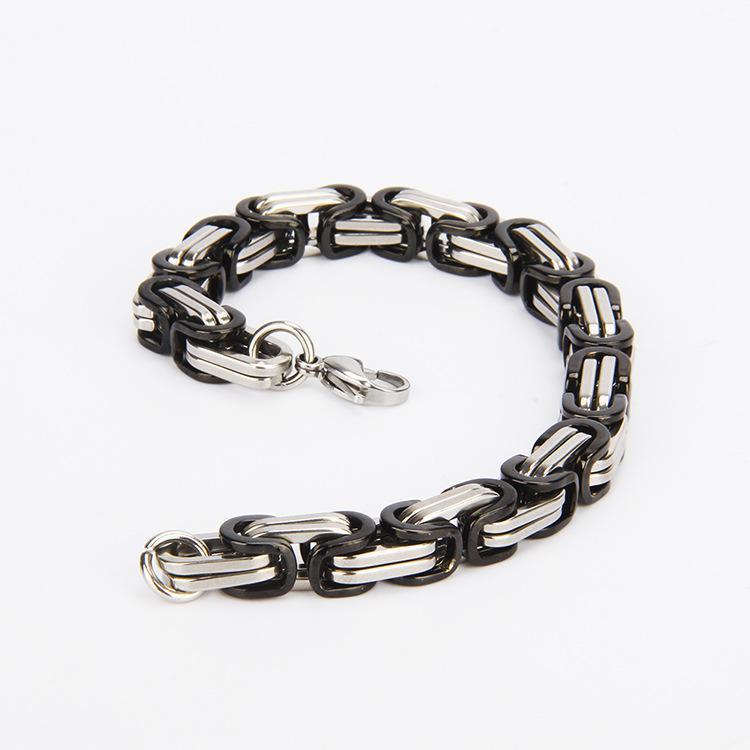 Precio de promoción regalos de día de san valentín * pulseras de acero inoxidable 316L para hombres pulsera de oro rosa cadena negra cadenas de plata dorada