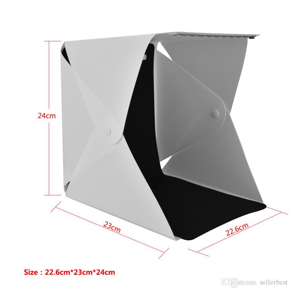 Portable Foldable Mini Studio Photography Light Box Tent Kit 22.6*23*24cm with 4 Colors Backgrounds Free Shipping