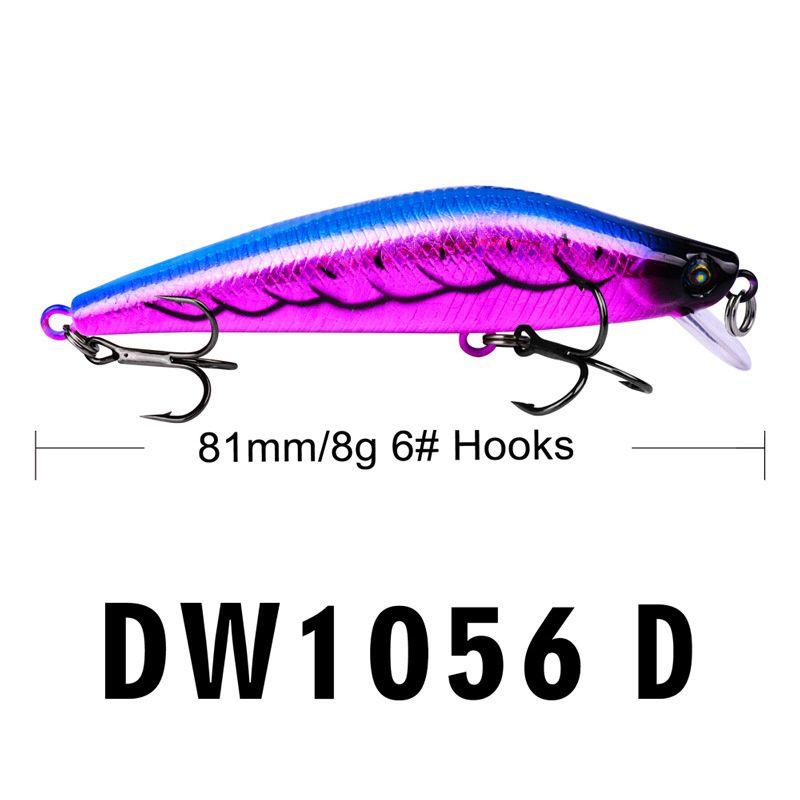 New Fishing Hooks Minnow Hard bait 8g 8cm Wobbler Swimming Artificial Laser Plastic Fishing Lure