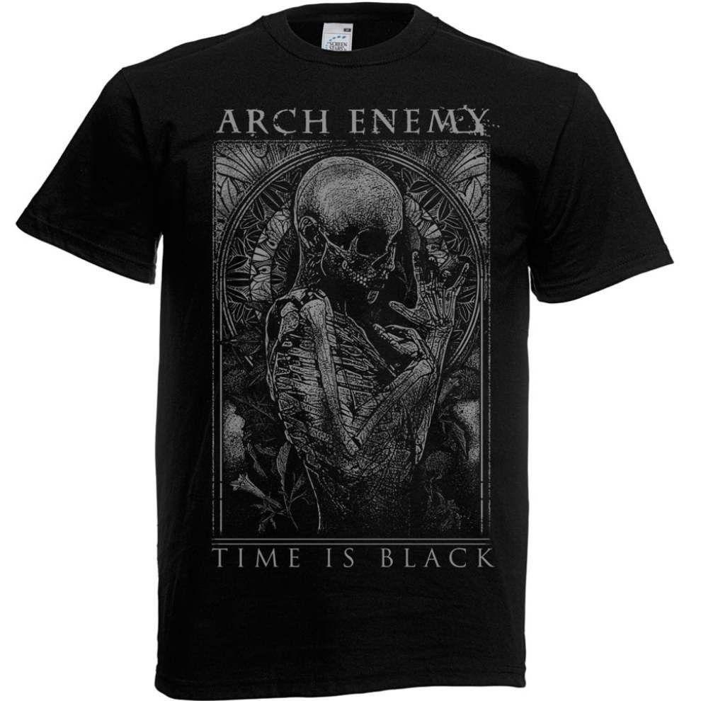 Compre Arch Enemy Time Is Black Camiseta S M L XL XXL Camiseta Oficial De  Metal Camiseta Nueva Camiseta Con Cuello En O Camiseta De Manga Corta A   11.78 Del ... c8a7e1d0492ce