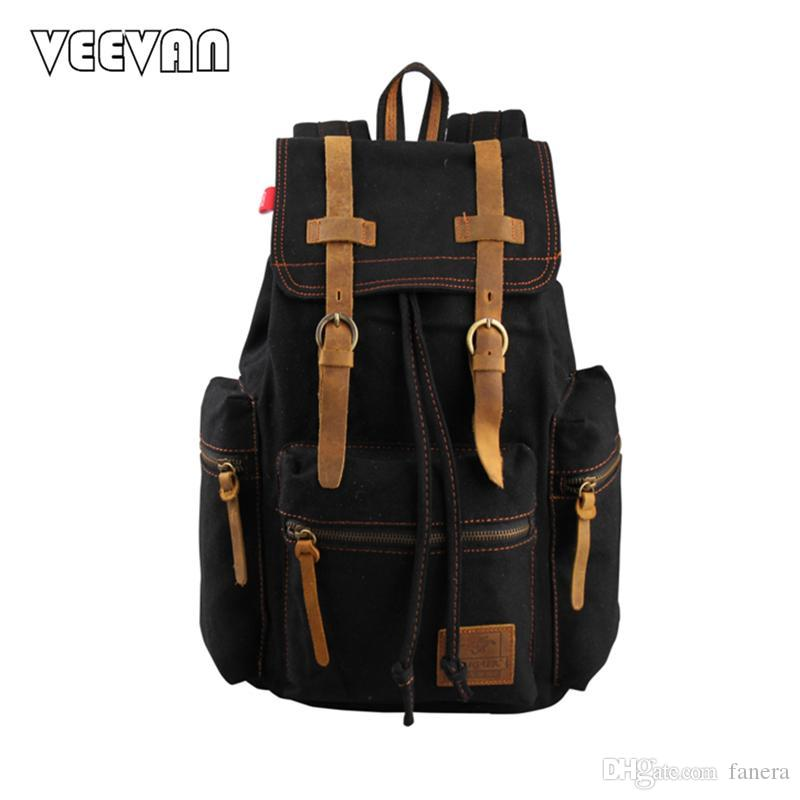 Wholesale 2017 Fashion Rucksack Men S Canvas Backpack Leisure Travel