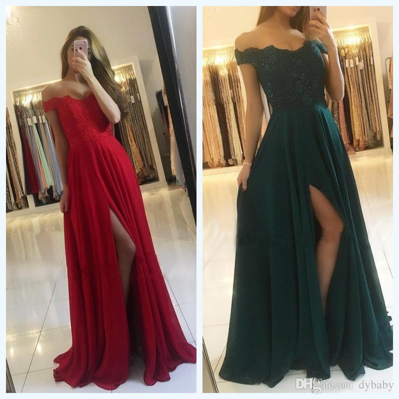 2018 Sexy Cheap Plus Size Formal Evening Gowns Red Green Lace