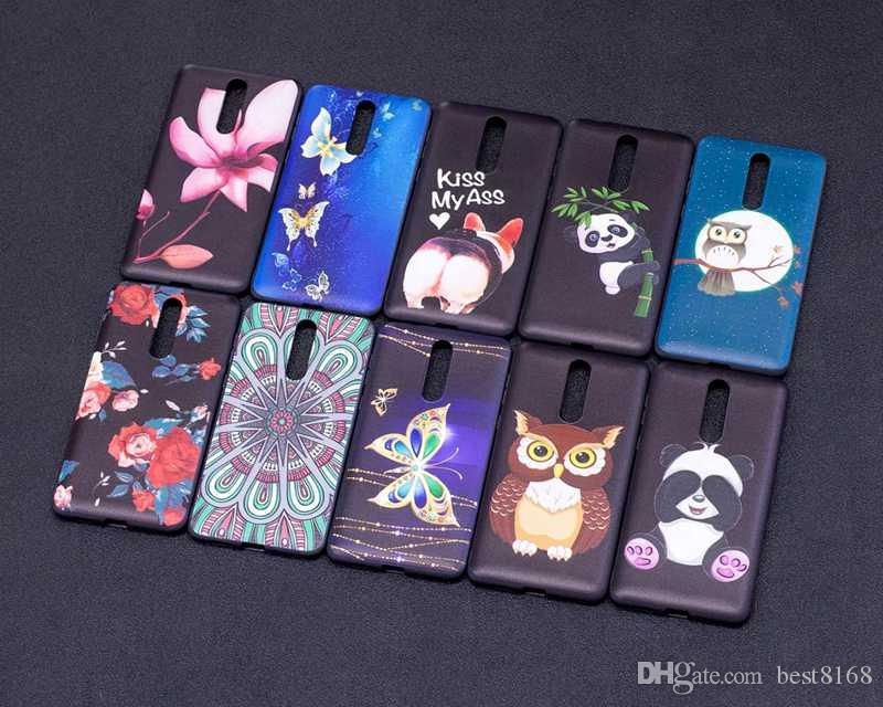 Relief Flower Butterfly Soft TPU Silicone Case For Sony L1 Nokia 8 6 5 3 Galaxy A8 2018 A530 Owl Panda Cover Cute Lovely Rose Cartoon Gel