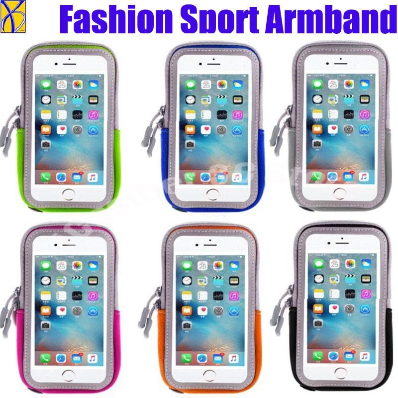 low priced 3c370 acf34 100pcs Armband Arm Band Waterproof Phone Case Cover Run Sports Belt Pouch  Bag For Iphone X 8 7 6 6s Plus For Samsung S6 S7 S8 S9
