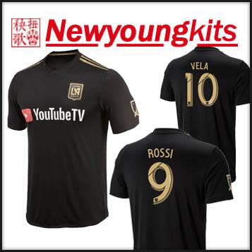 2019 2018 Los Angeles FC Home Jersey Black Football Uniforms VELA CIMAN  ZIMMERMAN Soccer Shirt From Newyoungkits 6cefaa431
