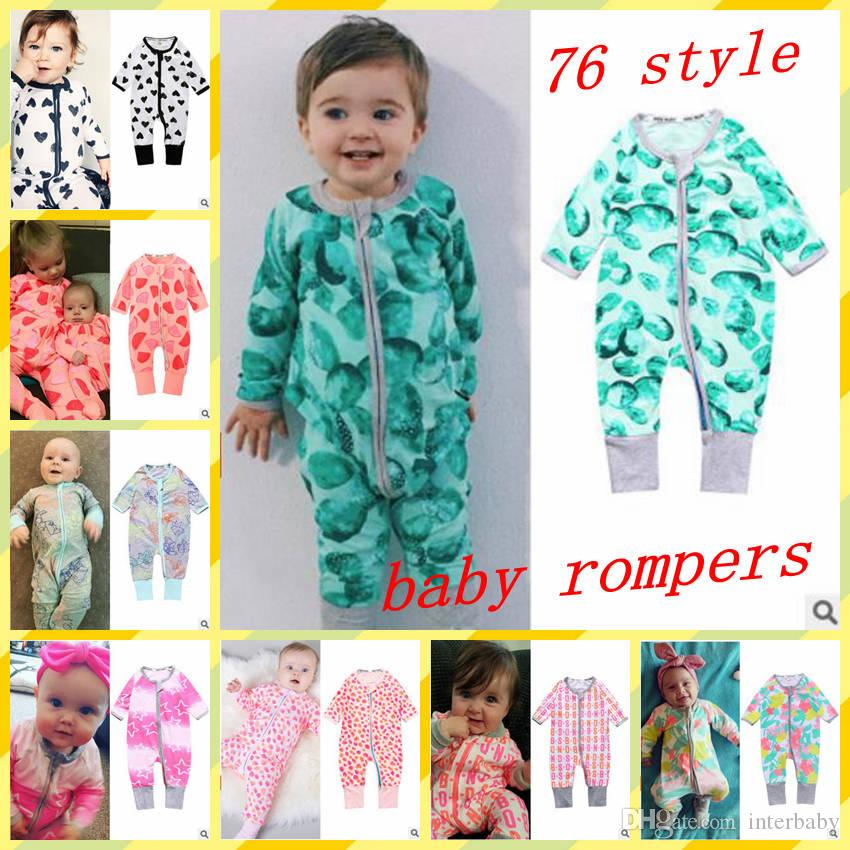 dd40c374321 2019 Kids Designer Clothes Girl Cartoon Rompers Boys Animal Print Jumpsuits  Infant Long Sleeve Onesies Baby Outdoors Clothing 76 Styles YL414 1 From ...