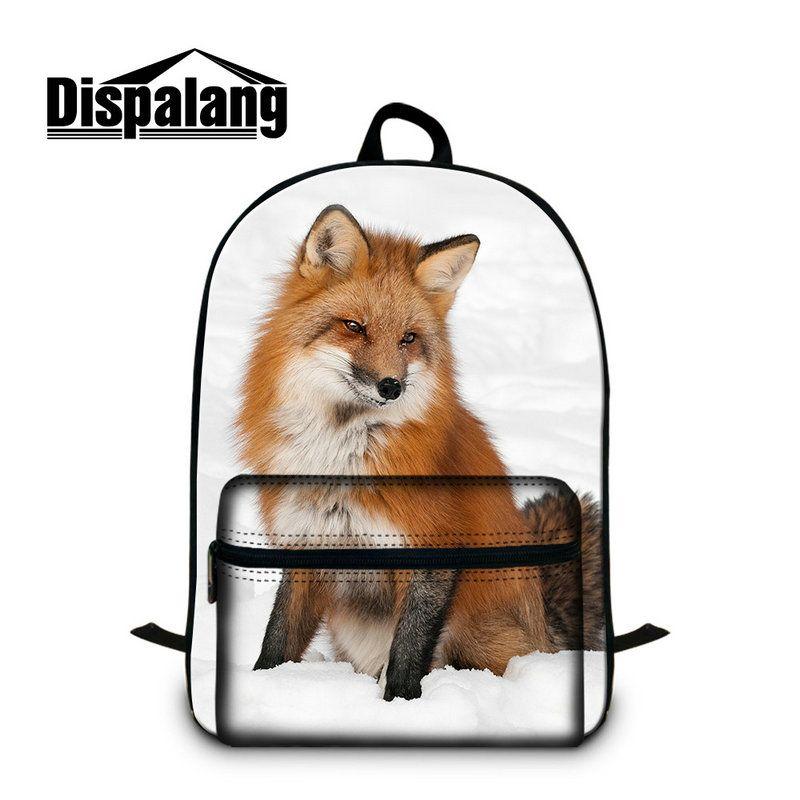 2ce7448c8503 Animals Fox School Backpacks For Junior School Children College Adults Men  Women Book Bag Shoulder Rucksack With Laptop Pocket 15.5 Inch Girls  Backpacks ...