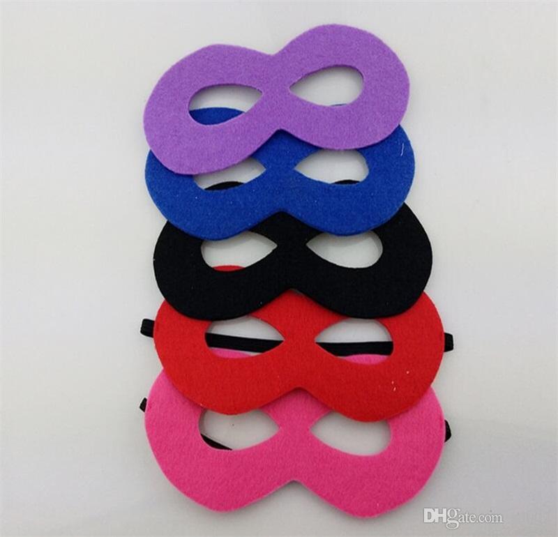 Máscara de ojo de niños no tejidos Halloween DIY Cosplay Masquerade Vizard Máscaras para niños Fiesta de disfraces Decoración de cumpleaños de Navidad Juguetes 0 8dk YY