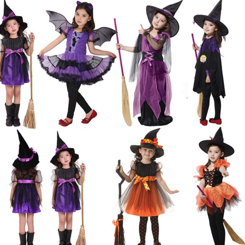 halloween for kids baby girls children vampire witch girl cosplay Carnival Party princess fancy dress fantasia