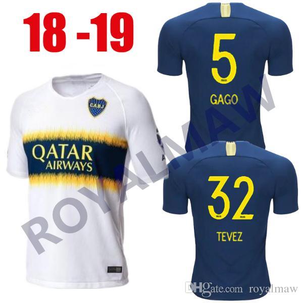 6c2cf0b5f Camiseta De 2018 2019 Boca Juniors 1ª Camiseta De Fútbol 2ª Casa Local  Equipación TEVEZ GAGO PAVÓN BENEDETTO BARRIOS NÁNDEZ Jersey De Fútbol 18 19  Por ...