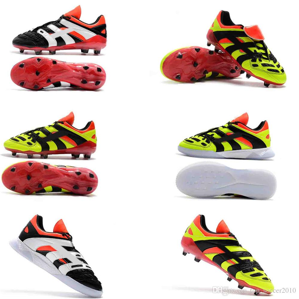 big sale 49b3f a7006 2019 Predator Accelerator Electricity Remake FG Cleats Blue Red Soccer Shoes  Limited Edition Beckham Mania Football Boots From Top soccer2010, ...