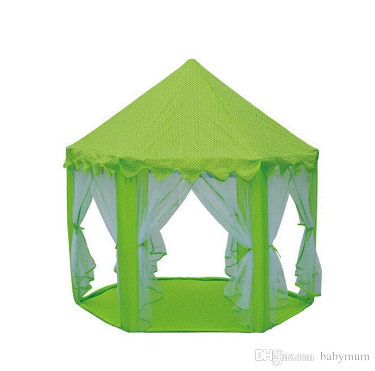 INS Children Portable Toy Tents Princess Castle Play Game Tent Activity Fairy House Fun Indoor Outdoor Sport Playhouse Toy Kids Gifts