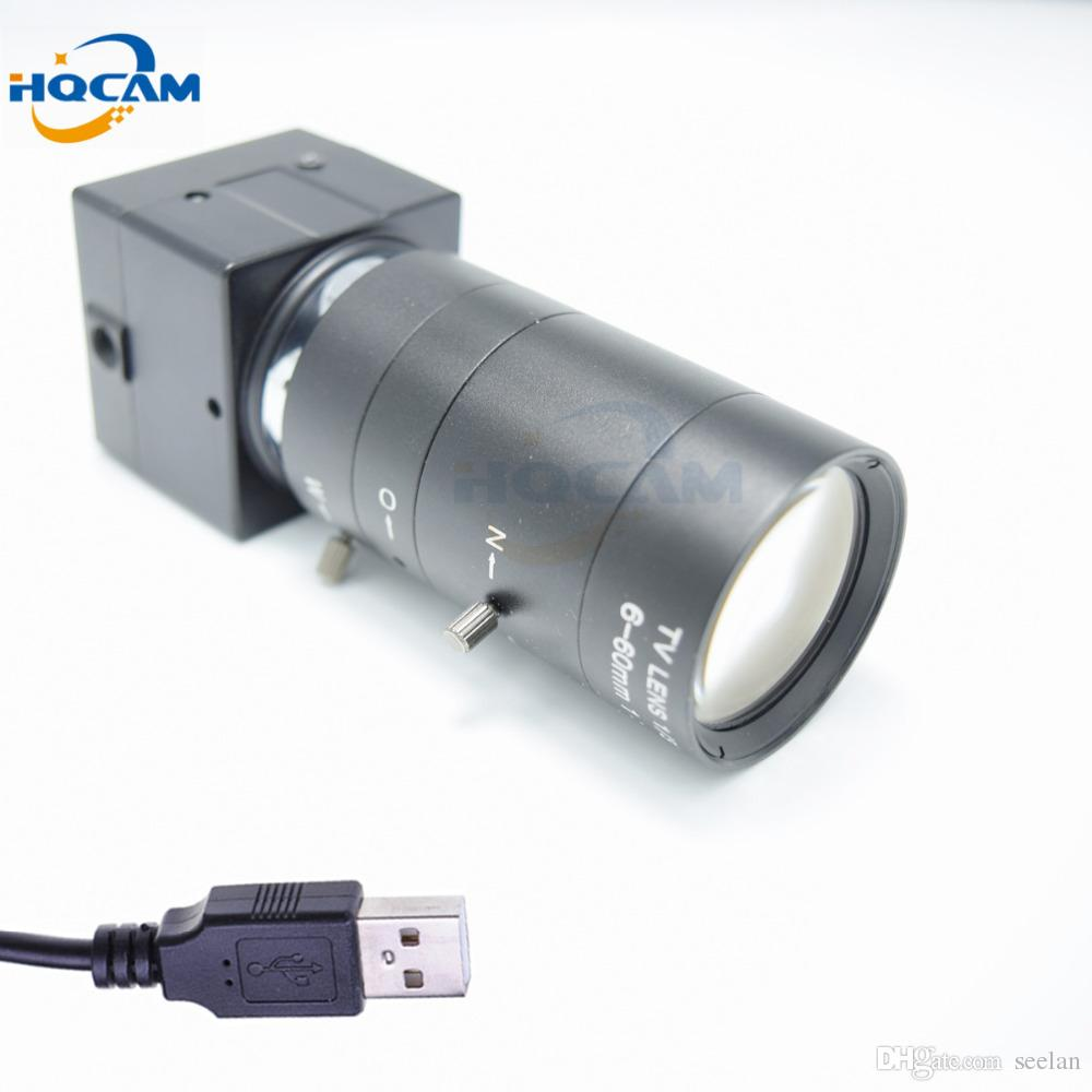 HQCAM 1080P 6-60mm Manual Varifocal Zoom Lens Mini USB Camera CMOS OV2710 video chamber Industrial inspection microscope equipme