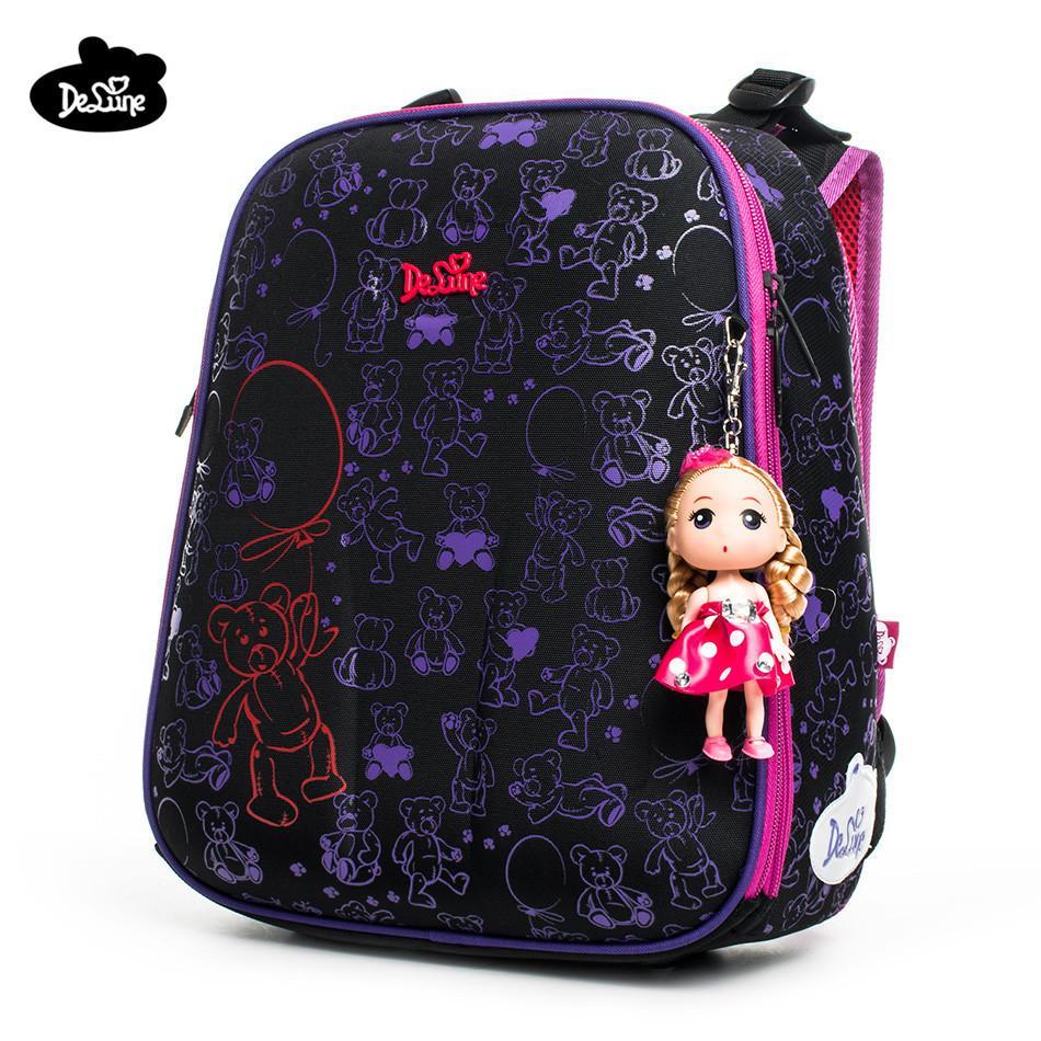 9fc512f77994 Delune Brand Safe Orthopedic Children School Backpack Girls School Bags For  1 3 Grade Class Students Factory Cartoon School Bags Y18100705 Backpacks  Hiking ...