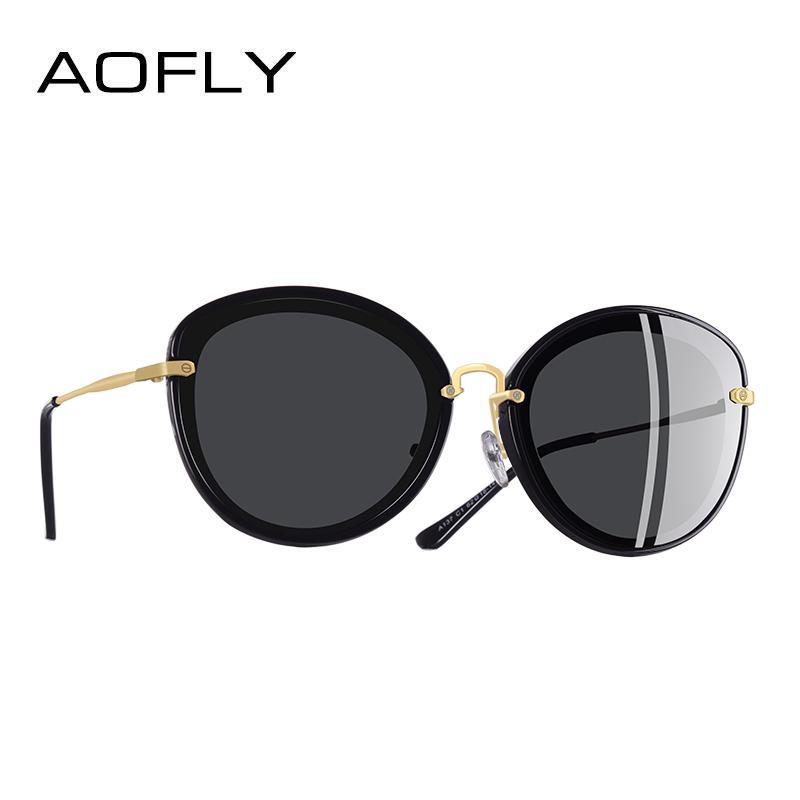 40ce58da2c Compre AOFLY MARCA DISEÑO Moda Ladies Cat Eye Sunglasses Metal Legs Gafas  De Sol Polarizadas Mujeres Oculos Gafas A137 A $32.76 Del Turban |  DHgate.Com