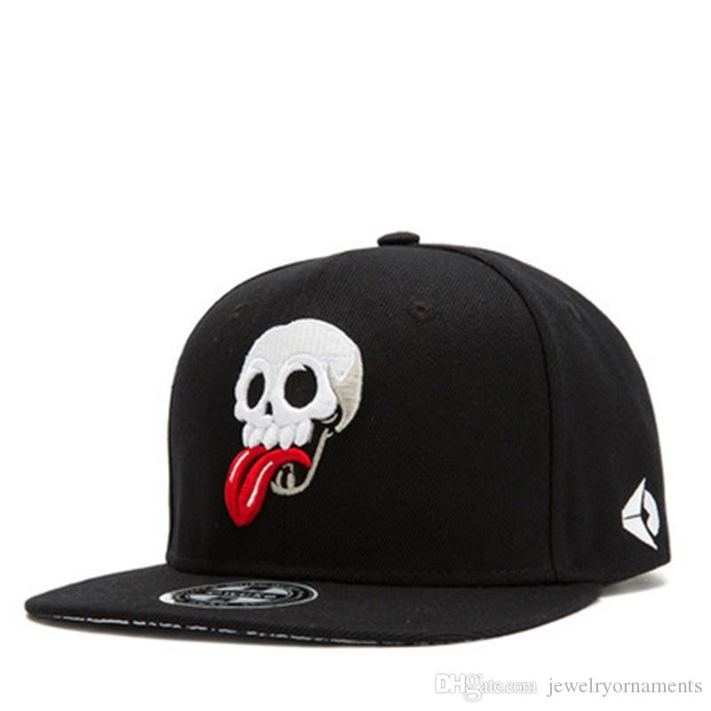 77544f6f658 Men S Skull Poker Embroidery Snapback Fitted Hat Black Casual Casquette  Skeletion Baseball Cap Hat Flat Brim Hiphop Caps Men Hats For Sale  Neweracap From ...