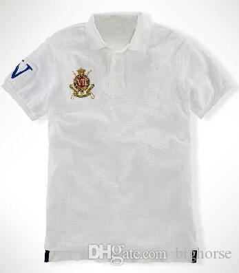 neues Bestseller einkaufen zuverlässige Qualität Hochwertiges Marken Poloshirt Big Horse Männer Casual Club XVII Kurzarm  Poloshirts Camisa Herren Sport Polos Gelb Rot Blau