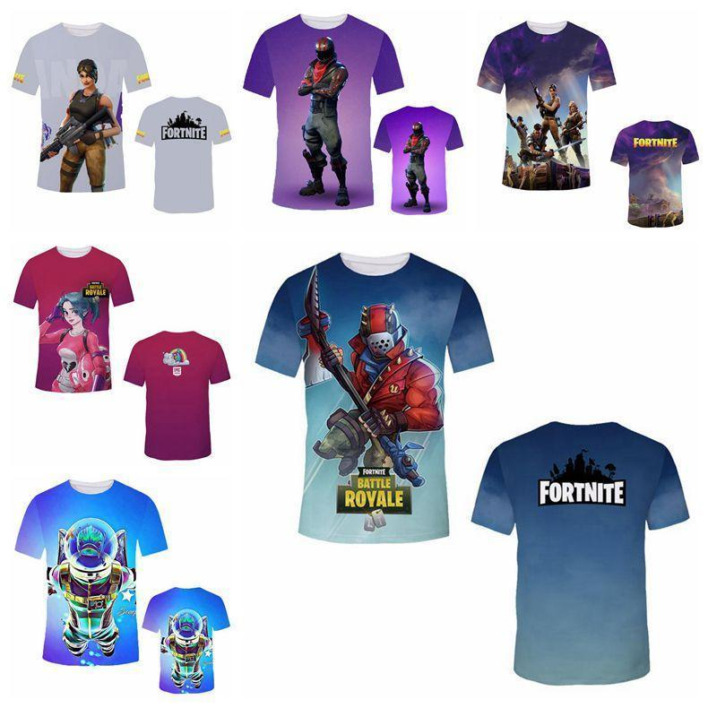 ba350126 2019 2018 Fortnite T Shirts Big Kids Student Mens 3D Print Fortnite Cotton Short  Sleeved Breathable Tshirt Mens T Shirt MMA321 From Panthers, ...