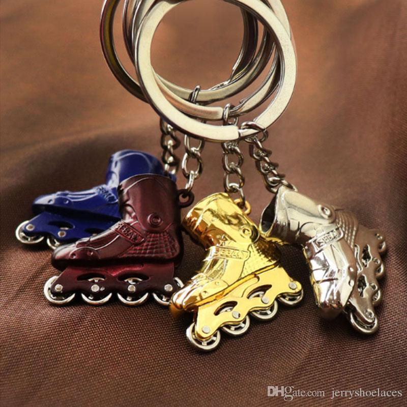 Stylish Skates Shoes Keyring Trendy Key Chains Metal HandBag Pendant Unisex Key Holder Gift For Adult and Kids