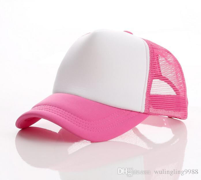 Düz Spor Kamyon Şoförü Şapka Ayarlanabilir Snapback Yetişkinler Için Mens Womens Özel Baskı Logosu Boş Beyzbol Kapaklar Snapback Örgü Güneşlik