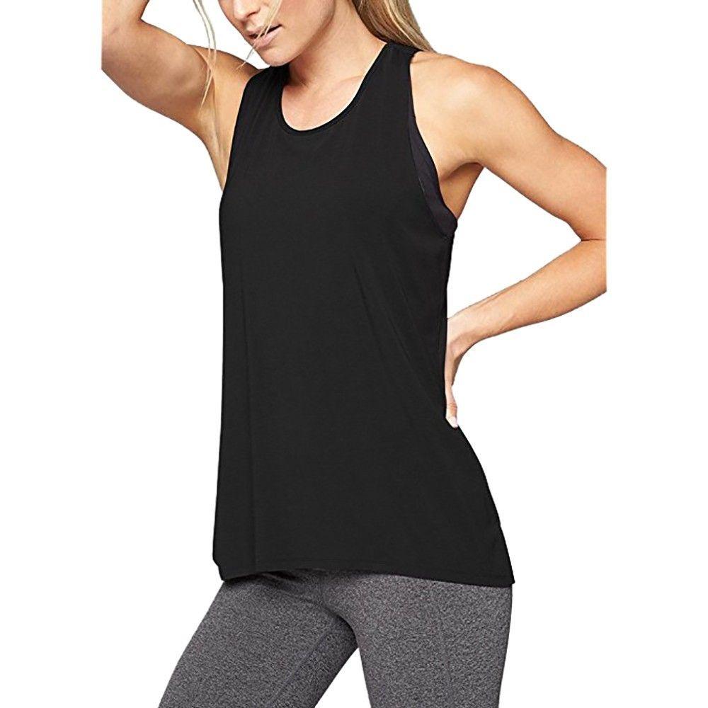 5f6b1efe93ab2 2019 New Sale Women S Cross Back Tank Top Sleeveless Cross Back Workout Tank  Tops Super Quality Hot Girl Vest Colete Feminino From Liasheng06