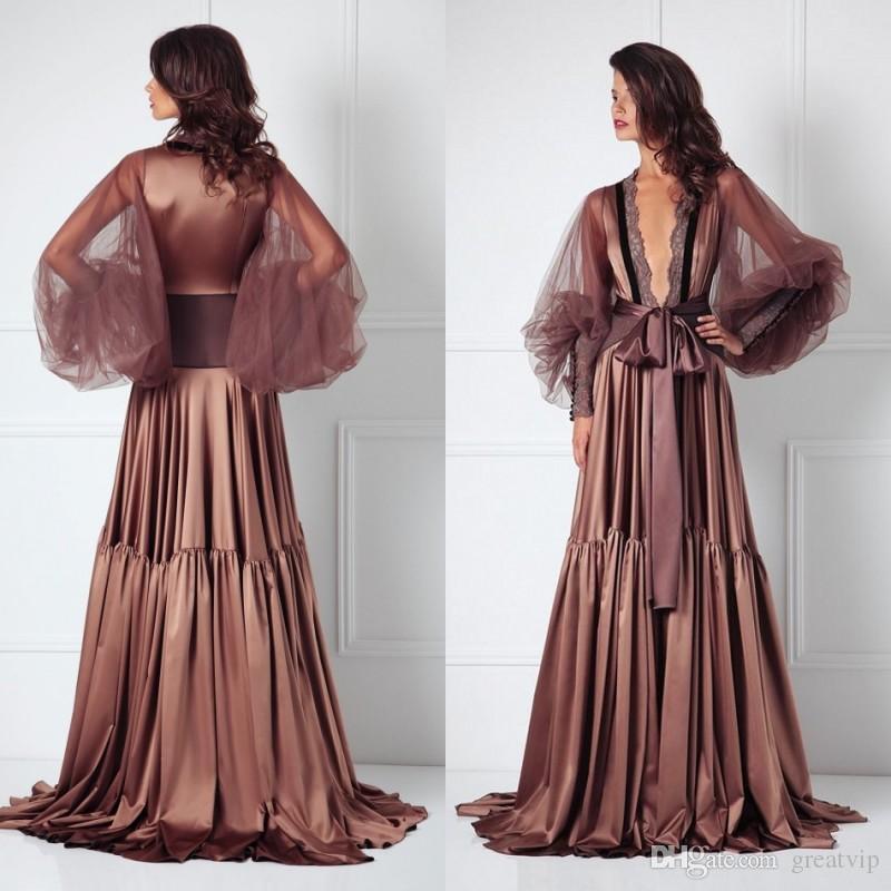 298da2912f 2019 Sexy Night Robe Bathrobe Wedding Bride Bridesmaid Robes Dressing Gown  Tulle Sleeve For Women Pajamas Sleepwear Pyjamas Black Petticoat Skirt Full  ...