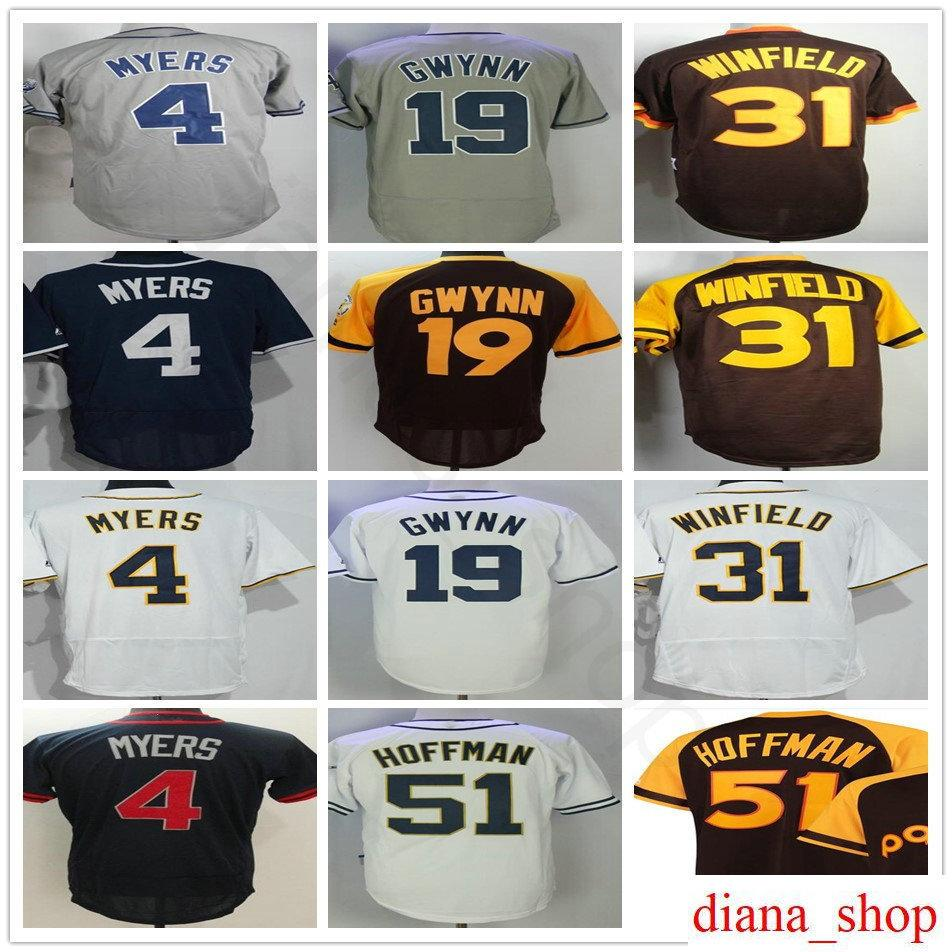 ... san diego padres authentic home cool base majestic jersey white 32d85  792d0 closeout stitched mens 4 wil myers jersey 19 tony gwynn 31 dave  winfield 2 ... a2d61d8ad
