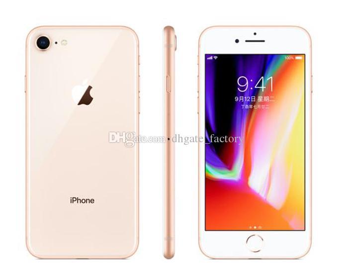 4.7 inç 5.5 inç Apple iPhone8 Iphone 8 Artı Heksa Çekirdek 12MP Parmak Izi Ile 4G LTE Cep Telefonu Yenilenmiş cep telefonları