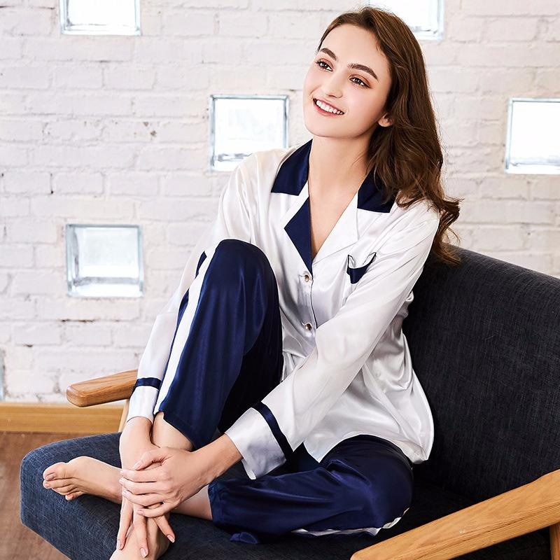 129706e6d8 Spinning Silk Pajamas Women s Spring Long-sleeved Trousers Home ...