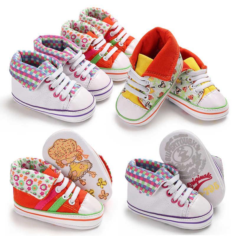7b7f4b4c555c3 Acheter Chaussures De Bébé Marque Nouveau Né Bébé Fille Chaussures Toile  Solide Chaussure De Sport Pour Enfants Chaussures Bébé Nouveau Né Premiers  ...