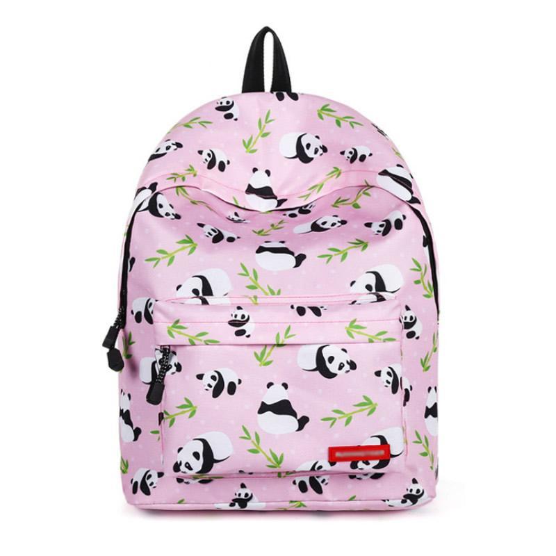 Pink Panda Print Women Backpack Large Capacity School Bags For Teenage  Girls Fashion Female Rucksack Travel Backpack BB145 Girls Backpacks  Drawstring ... 09fe3700956b4