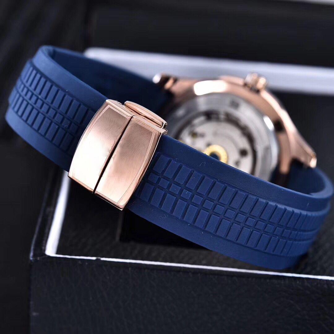 Big P P marca de lujo reloj 39 mm Aquanaut automática 2813 movimiento caja de acero cómoda correa de caucho original cierre AAA reloj bang 05