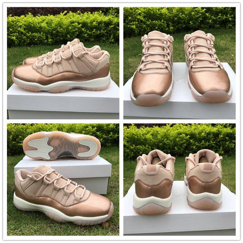 Original Box Real Carbon Fiber GS XI Low 11 Rose Gold Basketball ... 99e92b25c