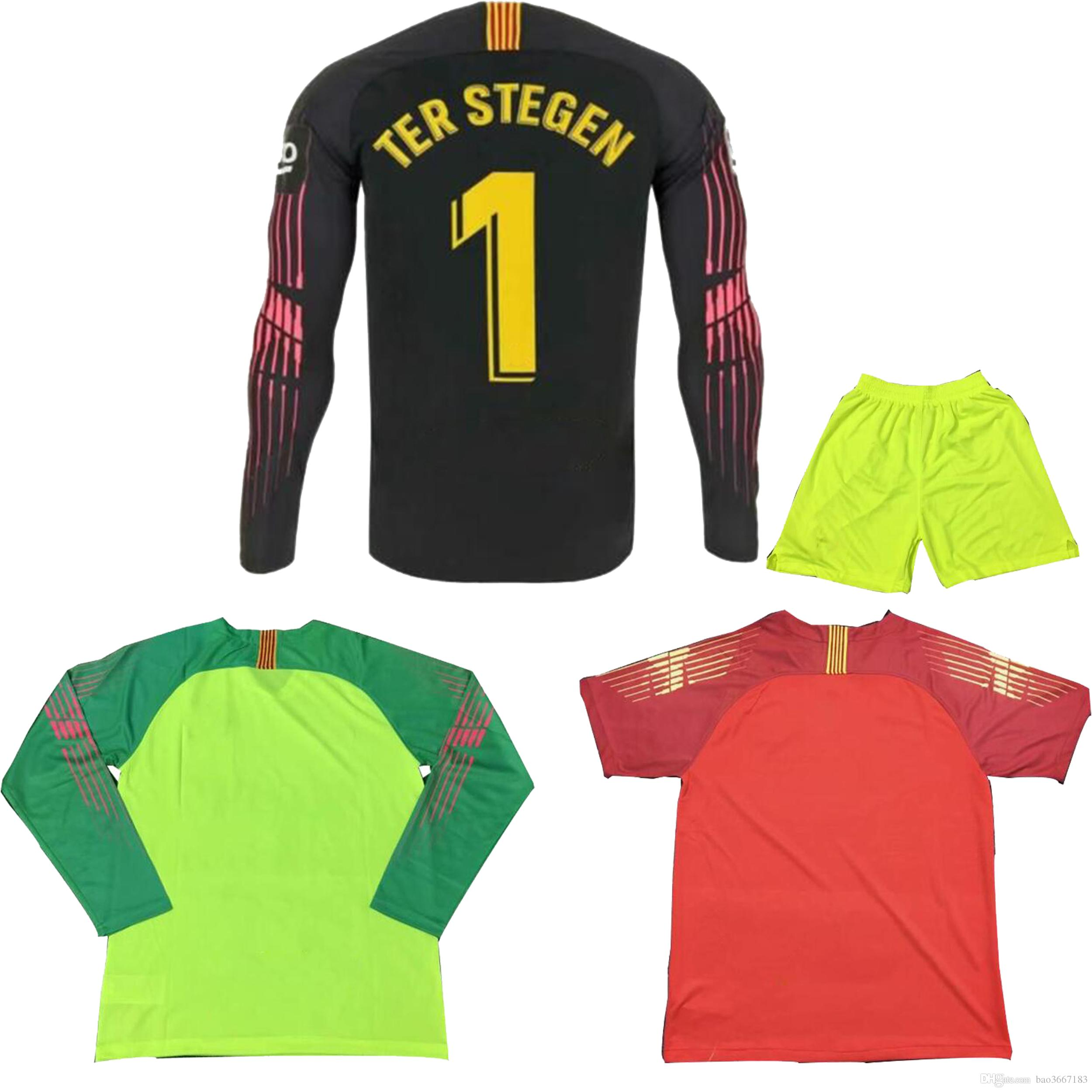 Compre Camiseta AAA + Calidad Tailandesa 2018 2019 Camiseta De Portero De  Manga Larga 2018 TER STEGEN CILLESSEN 2018 2019 Camiseta De Fútbol De  Portero De ... dade2cb257261