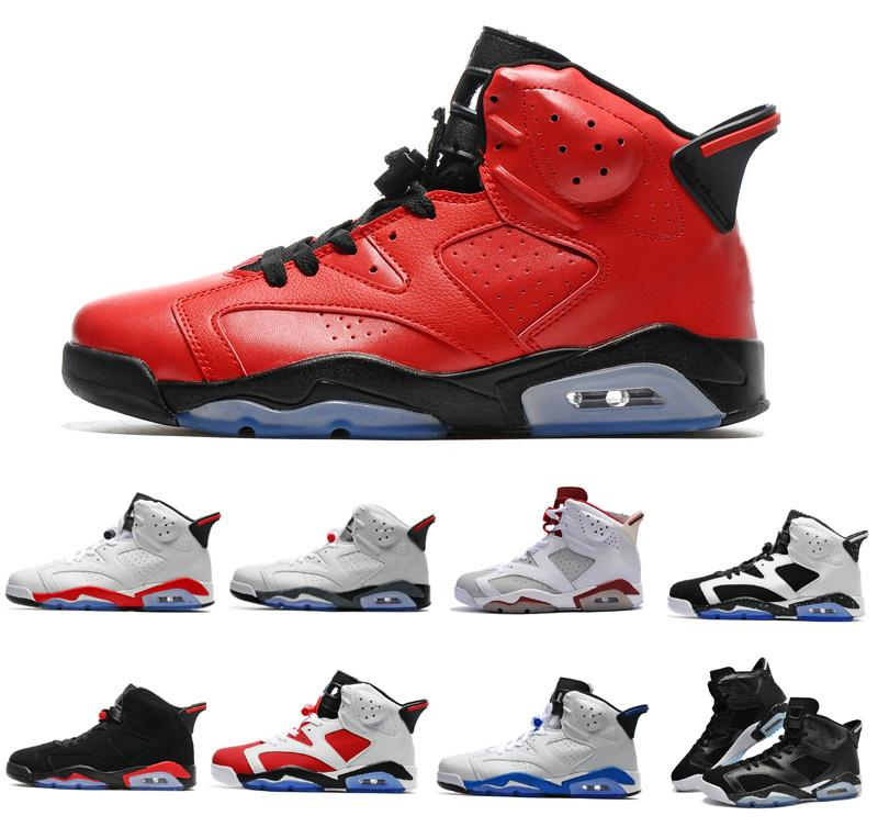 finest selection e8d52 ce6d5 2018 6 for Infrared red black cat Maroon Carmine Mens Basketball Shoes  classic 6s VI Mid Athletic Sport Sneakers