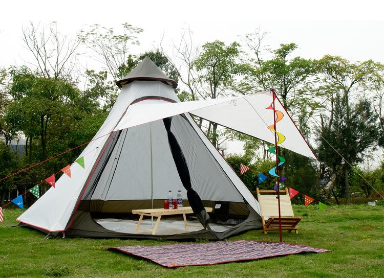 6 Person C&ing Family Tent Large Indian Tent Outdoor Wind Resistance Waterproof 3000mm C&ing Aluminum Pole Big C&ing Tents Family Tents Clearance From ...  sc 1 st  DHgate.com & 6 Person Camping Family Tent Large Indian Tent Outdoor Wind ...