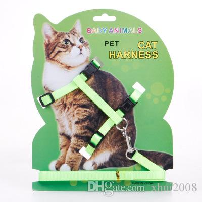 2019 Pet Cat Leashes H Shaped Nylon Material Pet Cat Harness ...