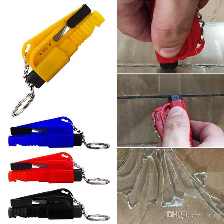 Mini Emergency Safety Hammer Auto Car Window Glass Breaker Seat Belt Cutter Rescue Hammer Car Life-saving Escape Tool