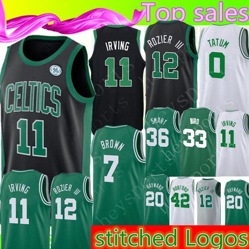 7a4f51e7c 2018 Boston Celtics 11 Kyrie Irving 7 Jaylen Brown Jersey 0 Jayson Tatum 12  Terry Rozier 33 Larry Bird 20 Gordon Hayward 42 Al Horford 36 From  Heysports