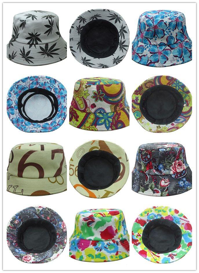 aedc107ddde Fisherman Hats Hot Brand Floral Script Classic Bucket Hats Men Women 100%  Cotton Designer Flower Sports Blank Plain Hip Hop Bucket Caps Fisherman Hats  ...