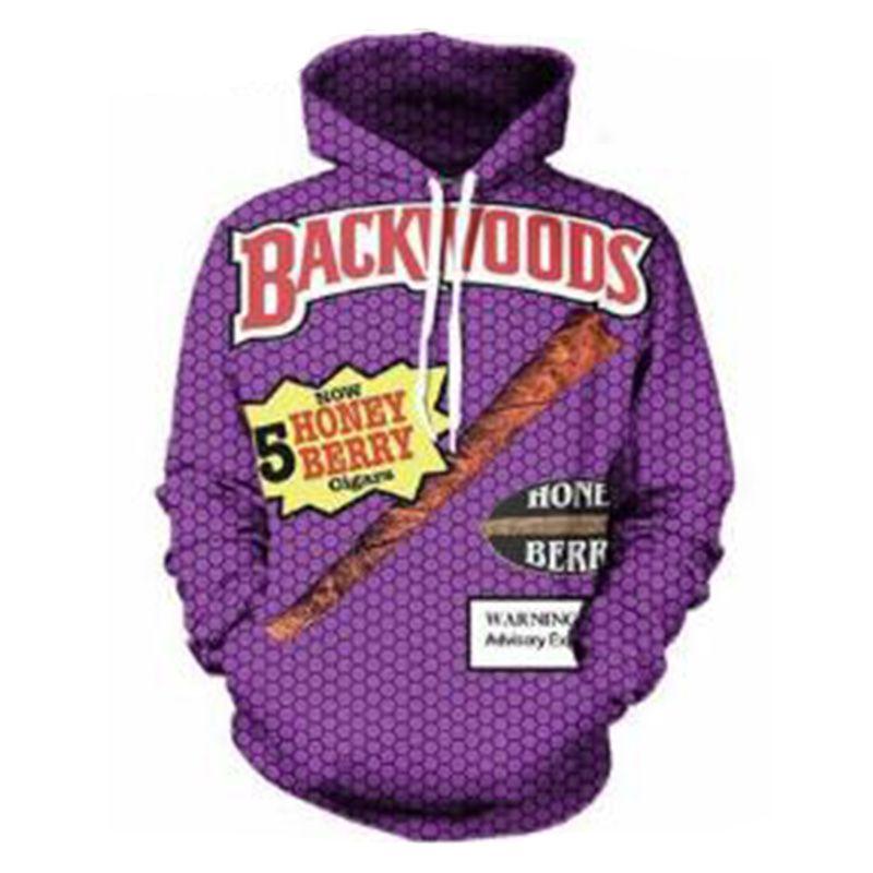 Sweatshirts Men Purple Hoodie 3D Printed BACKWOODS Letters Men And Women  Overall Loose Sweatshirt UK 2019 From Odelettu 37a2c6b1c