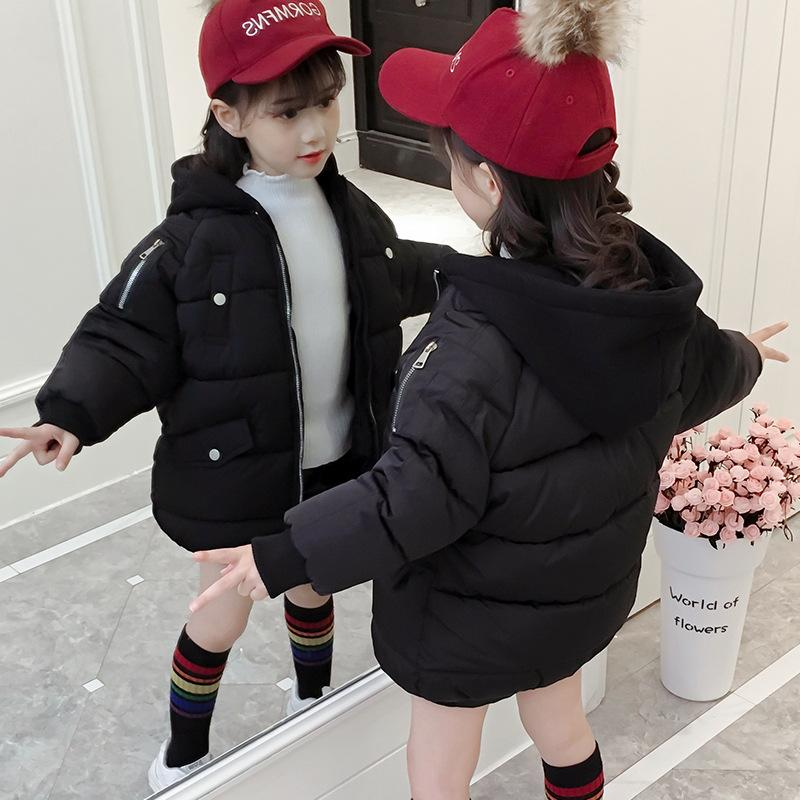 47deb0d69 2018 Winter Down Jacket Parka for Girls Coats Solid Down Jackets Children's  Clothing for Snow Wear Kids Outerwear & Coats