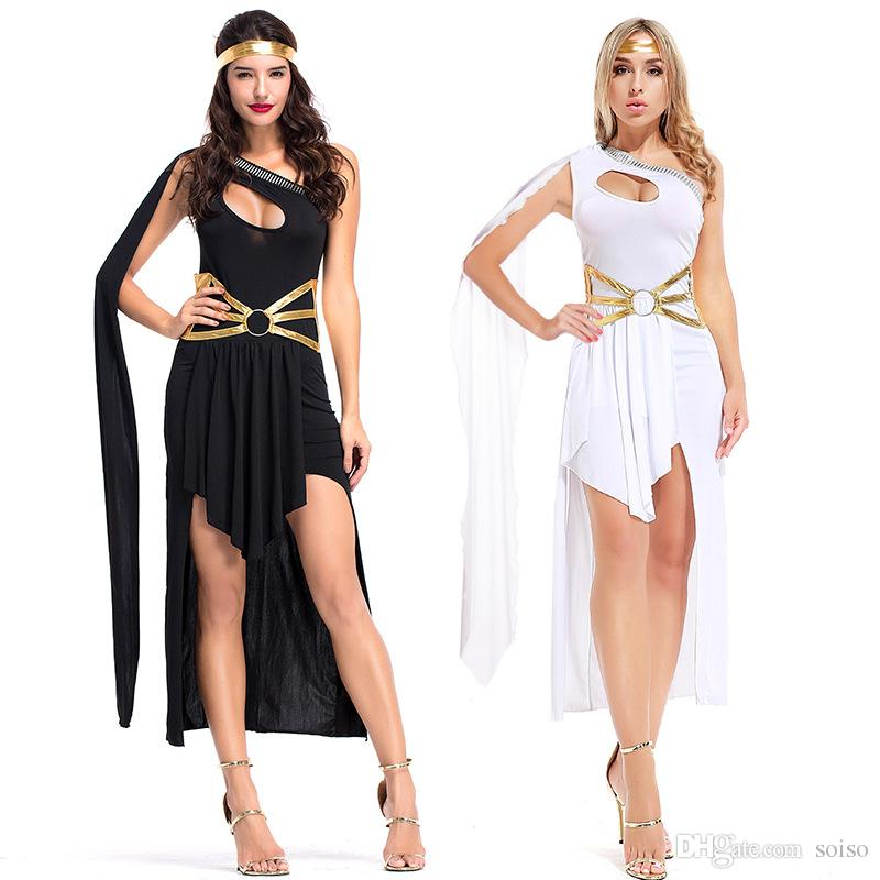 bca36f3f2ec 2019 Fashion Greek Goddess Dress Irregular Party Skirt Dance Queen Costume  Halloween Party Stage Arab Princess Masquerade Fancy Costume Women From  Soiso