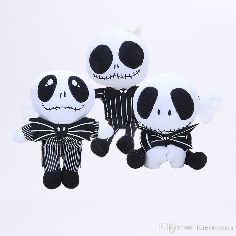 15-35cm Nightmare Before Christmas Jack Plush Toy Cute Skull Jake Stuffed Soft Dolls Toys for Children Kids Gift party prop
