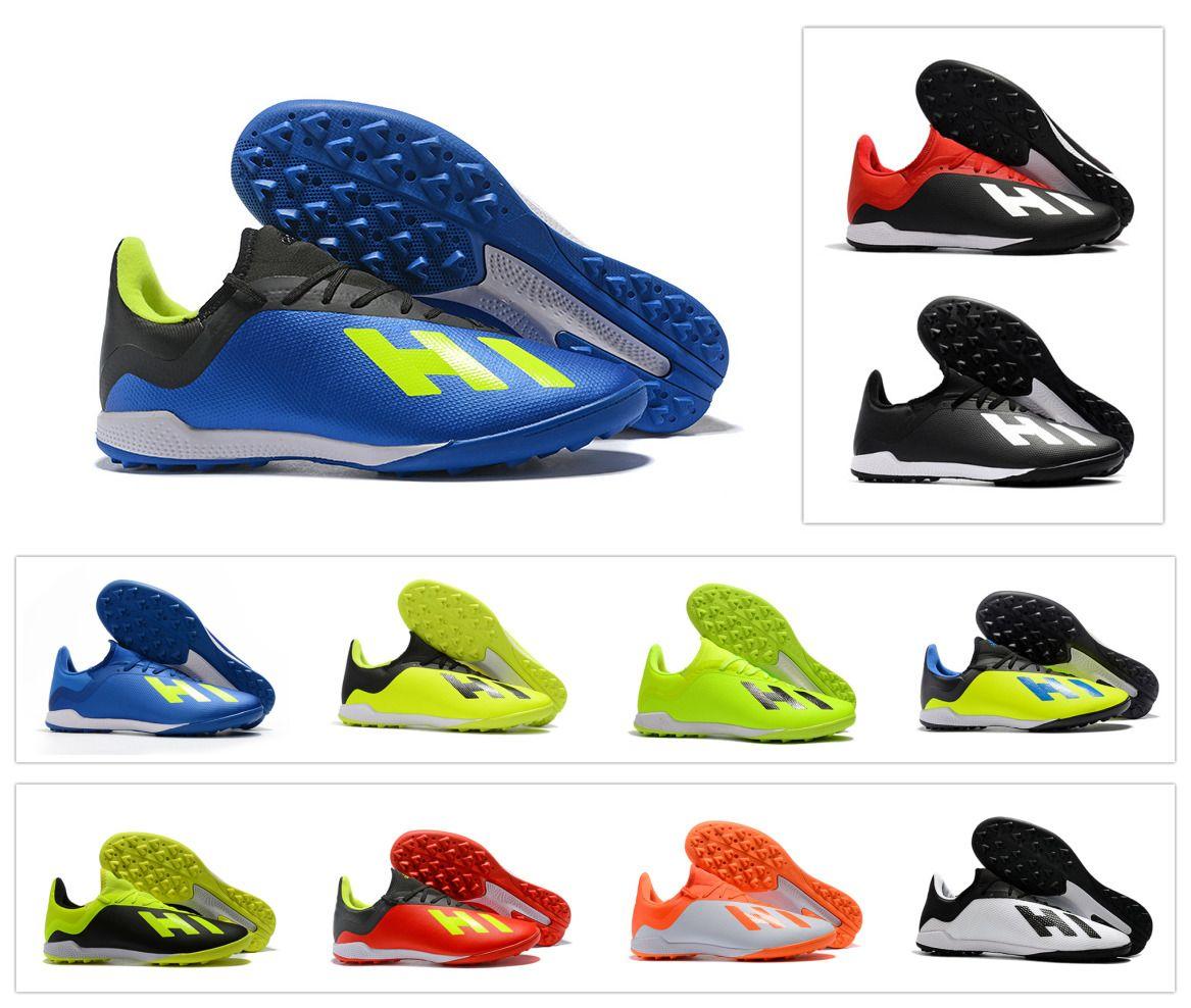 best cheap ca2b0 a65c2 Compre Nueva Llegada 2018 EX X TANGO 18.3 TF Turf Cleats Low Ankle Zapatos  De Fútbol Para Hombre Fútbol Botas Cleats Solar Amarillo Tamaño 6.5 11 A   42.22 ...