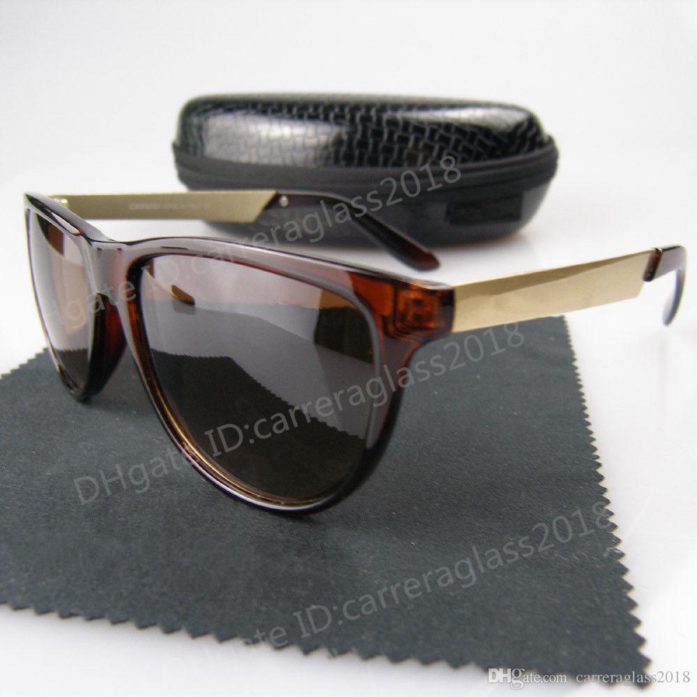 logo kutu C-26 ile yüksek kalitede Marka Tasarımcı Güneş Moda Erkekler Kadın Retro Güneş Unisex Spor Mat Çerçeve Gözlük